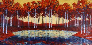 Contemporary Outdoor - Reflected Grove 24x48