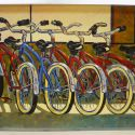 Contemporary Outdoor - Bikes 16x20 1200