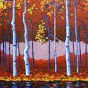 Contemporary Outdoor - Blue Birch 36x48 was $3900 SOLD