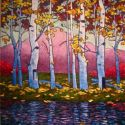 Contemporary Outdoor - Purple Mountain Majesty 48x36 $3900