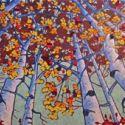 Contemporary Outdoor - Tree Gazing 36x72 $5900